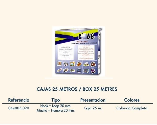 HILOS-MERCERIA-COMPLEMENTOS  CINTA CIERRE M+H-COSER 044805