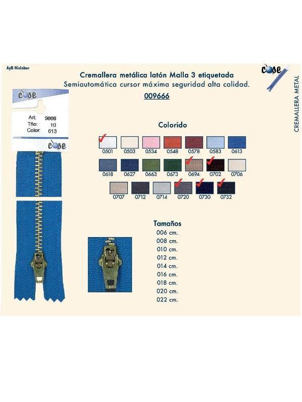 CREMALLERA METALICA COSE 9666