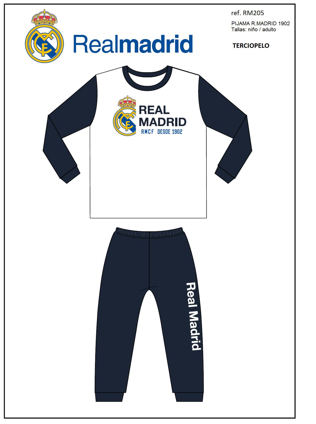 REAL MADRID  PIJAMA NIÑO REAL MADRID RM205